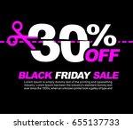 30  off black friday sale ...   Shutterstock .eps vector #655137733