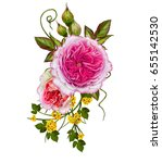flower arrangement of delicate... | Shutterstock . vector #655142530