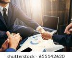 business man deal. business... | Shutterstock . vector #655142620