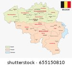 map of the belgian regions and... | Shutterstock .eps vector #655150810
