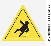 beware of slippery  caution wet ... | Shutterstock .eps vector #655152418