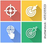 target vector icons with long... | Shutterstock .eps vector #655155523