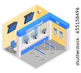 currency exchange office in... | Shutterstock .eps vector #655158496