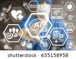 ai binary cloud smart medicine... | Shutterstock . vector #655158958