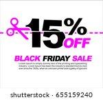 15  off black friday sale ... | Shutterstock .eps vector #655159240