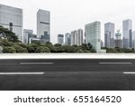 empty downtown street... | Shutterstock . vector #655164520