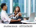 asian charming beautiful... | Shutterstock . vector #655165630