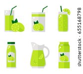 lime juice isolated icons on... | Shutterstock . vector #655168798
