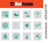 set of communication icons....
