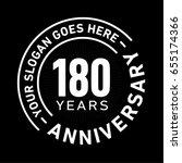 180 years anniversary logo...   Shutterstock .eps vector #655174366