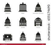 us state capitols  part 1   ... | Shutterstock .eps vector #655174690