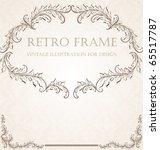 vertical vintage background for ... | Shutterstock .eps vector #65517787