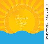 summer holiday abstract... | Shutterstock . vector #655179310