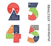 set of numbers 2 3 4 5 template ... | Shutterstock .eps vector #655179988