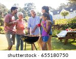 family talking while preparing... | Shutterstock . vector #655180750