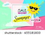vector banner template. summer...   Shutterstock .eps vector #655181833