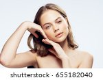 woman  on a light background    ... | Shutterstock . vector #655182040