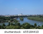 danube and sava river  belgrade | Shutterstock . vector #655184410