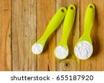 baking soda icing powder and... | Shutterstock . vector #655187920