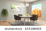 interior dining area. 3d... | Shutterstock . vector #655188403