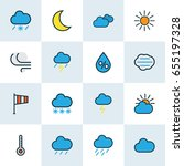 weather colorful outline icons... | Shutterstock .eps vector #655197328