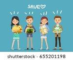all kinds of money. pile... | Shutterstock .eps vector #655201198