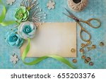 scrapbook greeting card details | Shutterstock . vector #655203376