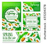 spring flowers banner and... | Shutterstock .eps vector #655204378