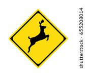 deer crossing sign   Shutterstock .eps vector #655208014