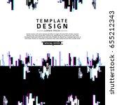 template design banner glitch... | Shutterstock .eps vector #655212343