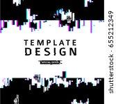 template design banner glitch... | Shutterstock .eps vector #655212349