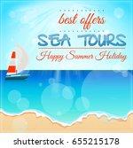 sea tour banner | Shutterstock . vector #655215178