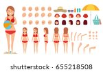 woman character creation set.... | Shutterstock .eps vector #655218508