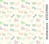 seamless pattern with skerchy... | Shutterstock .eps vector #655219000