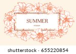 vector summer banner with hand...