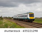 Small photo of MANEA, UK - APRIL 22: An Abelio operated class170 unit heads toward Peterborough with a passenger service on April 22, 2015 in Manea. Abellio call at 170 stations and operate 154 throughout the region