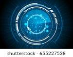 blue technology inside...   Shutterstock .eps vector #655227538
