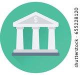 bank vector icon | Shutterstock .eps vector #655228120