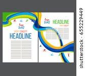 abstract vector template design ... | Shutterstock .eps vector #655229449