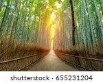bamboo forest of arashiyama ... | Shutterstock . vector #655231204
