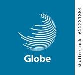 vector logo globe | Shutterstock .eps vector #655231384