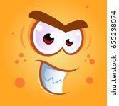 vector illustration of a funny... | Shutterstock .eps vector #655238074