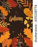 autumn banner with leaves | Shutterstock .eps vector #655238776