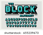 vector of stylized bold font... | Shutterstock .eps vector #655239673