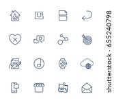 simple icons for app  programs... | Shutterstock .eps vector #655240798