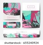 modern grunge brush design... | Shutterstock .eps vector #655240924