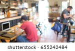 blured image of coffee shop as... | Shutterstock . vector #655242484