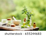 spa setting outdoor. fresh... | Shutterstock . vector #655244683