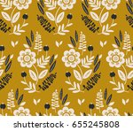 seamless floral pattern | Shutterstock .eps vector #655245808