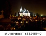 Small photo of All Souls' Day / church / many candles